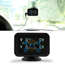 TPMS Tire Tyre Pressure LCD Display Monitoring System Wireless 4 External Sensor