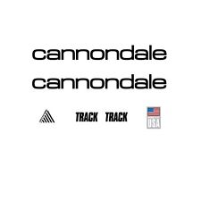 CANNONDALE Track BICICLETTA decals-transfers-stickers, nero # 12