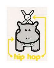 AWESOME HIP HOP Hippo and Bunny DJ COOL Vinyl STICKER/Auto DECAL