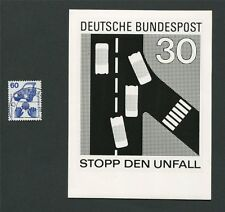 BUND FOTO-ESSAY 701 DAUERSERIE UNFALL 1971 PHOTO-ESSAY PROOF RARE!! e23