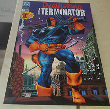 """DEATHSTROKE THE TERMINATOR HAND SIGNED PRINT(~11""""X17"""")-AUTO/MIKE ZECK W/COA"""
