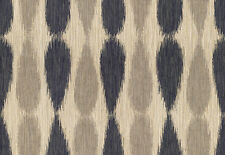 Groundworks Lee Jofa Upholstery Fabric Ikat Drops Midnight  0.55 yd GWF-2927.511