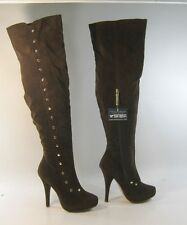 """Shiekh's  brown 5"""" high heel over the knee sexy boot size 5.5 free shipping"""