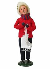 2015 Byers Choice Winter Fun Mother Holding White Skates New Design Ice Skating