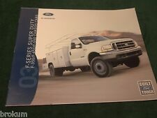 "MINT 2003 FORD F-SERIES SUPER DUTY TRUCK SALES BROCHURE 11"" X 9"" (BOX 642)"