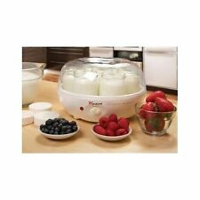 Euro Yogurt Maker Automatic Shut Off Portable Home Made 7 Glass Containers