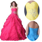 SAlES~Formal Long Evening Ball Gown Party Prom Bridesmaid Dress Stock Size 6~20