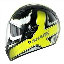 Casco Shark Vision r high visibility black yellow nero giallo fluo