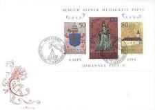 Liechtenstein 1985 Mi BL 12 g FDC Jan Paweł II papież John Paul pope papa papst