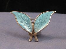 David Andersen noruego Estilo Art Deco Plata Esterlina Pin Broche Esmalte Guilloche