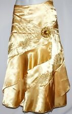 S Gold Yellow Cabaret Gypsy Mermaid Jeweled Burlesque Belly Dance Dancing Skirt