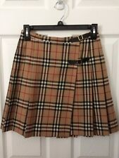 Vintage Burberry checked pleated wrap skirt Size 38 (US X-Small)