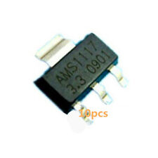 10stk regulador de voltaje ams1117-3.3 lm1117 3.3v 1a sot-223 voltage regulator
