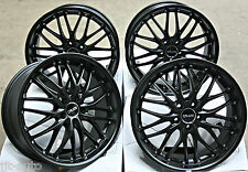"18"" CRUIZE MATT BLACK DEEP DISH ALLOY WHEELS 5X112 DIRECT FIT 18 INCH ALLOYS"
