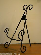 "11"" Elegant Scroll Wrought Iron Display Easel For Book Plate Or Fine China"