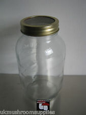 Milk or water kefir  fermenting jar with mesh filter lid - 1 litre