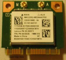 Lenovo Wifi Wlan Wireless Card + Bluetooth BT 4.0 20-200571 04x6026