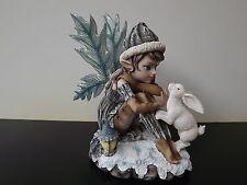 Grande Figurine fée Pixie avec Lapin en Résine Manga Sexy NEUF Réf AF060D