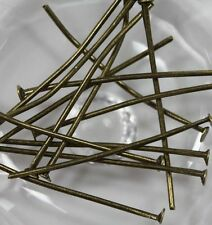 Wholesale 100Pcs Bronze Metal Flat Head Pins Jewelry Findings Crafts DIY 20mm