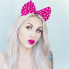 Pink & White Polka Dot Grande Arco Diadema Rockabilly Pin Up Girl