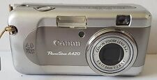 CANON PowerShot A420 4.0MP Photo & Video Digital CAMERA with Zoom Lens - Silver