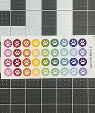 36 Colorful Dog Puppy Paw Prints Vet Remindee Planner Stickers Erin Condren