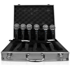 Technical Pro MCZ6PACK 6 Wired Microphones with Digital Processing Set and Case