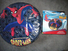 THE SPECTACULAR SPIDERMAN INFLATABLE FRISBEE SKIMMER DISC TOY - BRAND NEW