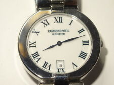 Mens Raymond Weil Allegro Model 9117 SS Date Watch Classic Roman Dial