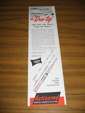 1954 Print Ad Actionrod Fishing Rods Orchard Industries Hastings,MI