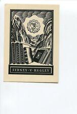 Ex Libris by Adrian Feint for Australia collector Syd Hagley