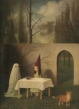 Stephen Mackey Coven of One Fantasy Weird Animal Cat Ghost Kid Print Poster sm