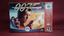 007 The World Is Not Enough (Nintendo 64, 2000) NIB Factory Sealed Hang Tag Inta