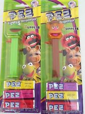 PEZ - Kermit the Frog and Fozzie Bear - Muppets - Mint on Cards - MOC