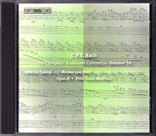 C.P.E. BACH Keyboard Concerto Vol.16 Miklos Spanyi BIS CD Carl Philipp Emaunel