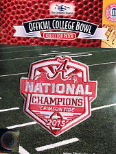 NCAA College Football Alabama Crimson Tide 2015 National Champions Patch