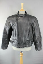 CLASSIC SPORTING GOODS BLACK LEATHER BIKER JACKET 40 INCH