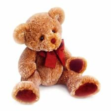 """Russ 14"""" Cinnamon Teddy Bear with Red Paw Pads and Bow Childrens Gift, 39412"""
