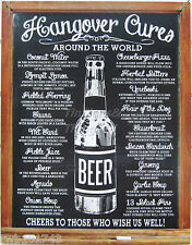 Hangover Cures Around The World TIN SIGN metal beer poster home bar decor 1976