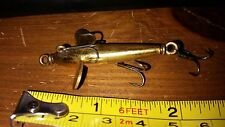 A rare Benns patent lure with Gregory rings. Patented 1888