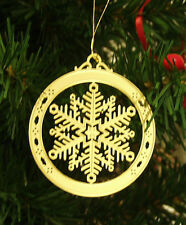 Personalized Snowflake High Polished Brass Christmas Ornament Custom Gift