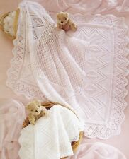 KNITTING PATTERN - GORGEOUS BABY BLANKET/SHAWL 3-PLY & 4-PLY VERSIONS