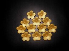 120 EDIBLE SUGAR FONDANT GUM PASTE GOLD FLOWERS CAKE CUPCAKE TOPPER