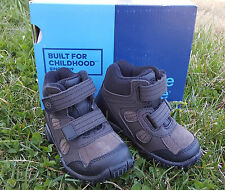 New Stride Rite Boy's Boots Rugged Ritchie 2 Dark Brown Leather Sz 6.5 W Hiking
