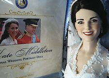 Franklin Mint KATE MIDDLETON ROYAL WEDDING PORTRAIT DOLL COA NIB