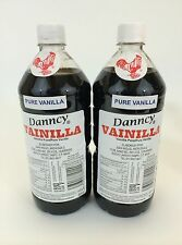 Two (2) Danncy Pure Mexican Vanilla Extract - Dark (1 Liter Each)