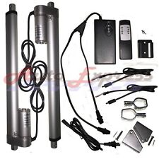 "2 Linear Actuators 18"" inch Stroke 12V 110V Power Supply With Remote Bracket Set"