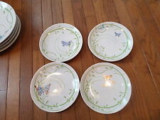 Disney China WINNIE the POOH BUTTERFLIES & GREEN VINES 4 Salad Plates EUC :-)