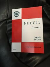 Lancia Fulvia Coupe Sport 1.3S/HF 2nd Series Instruction Book Handbook Manual