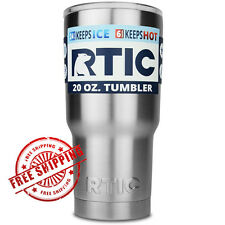 RTIC Tumbler 20 oz Stainless Steel Travel Mug Cup With Lid, In Stock Ships Fast!
